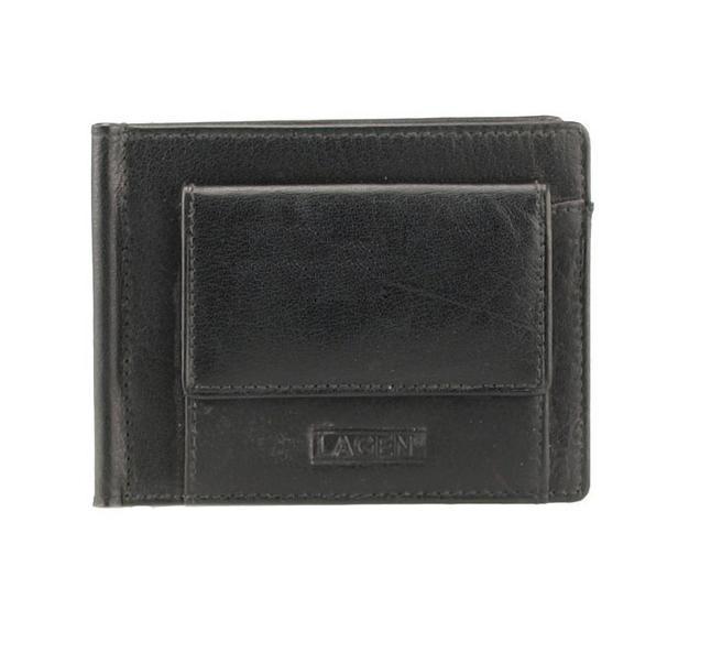 Pánská kožená peněženka, dolarovka, Lagen W 2010, černá