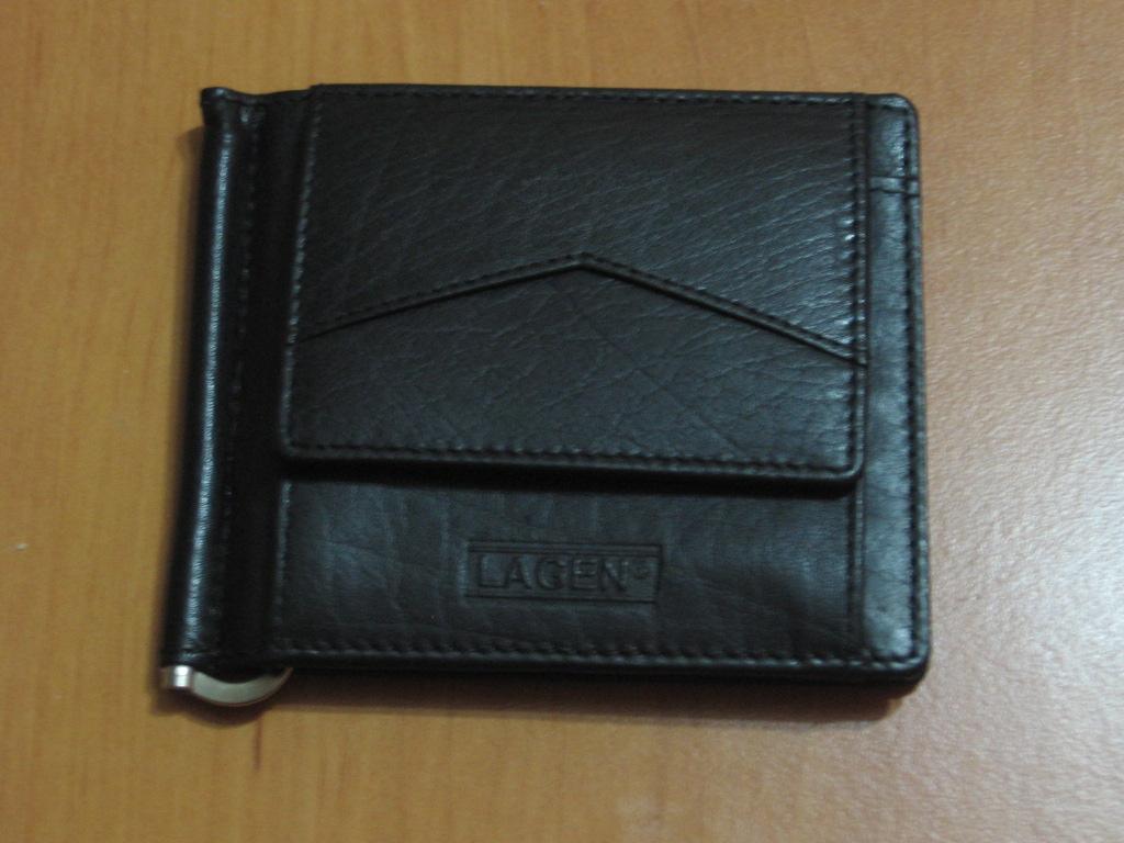 Pánská kožená peněženka, dolarovka, Lagen W 2018, černá