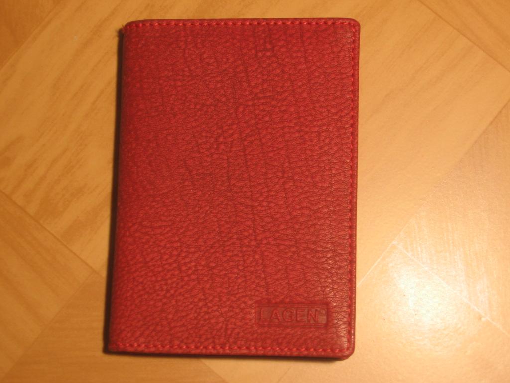 Kožená dokladovka Lagen V-61W červená