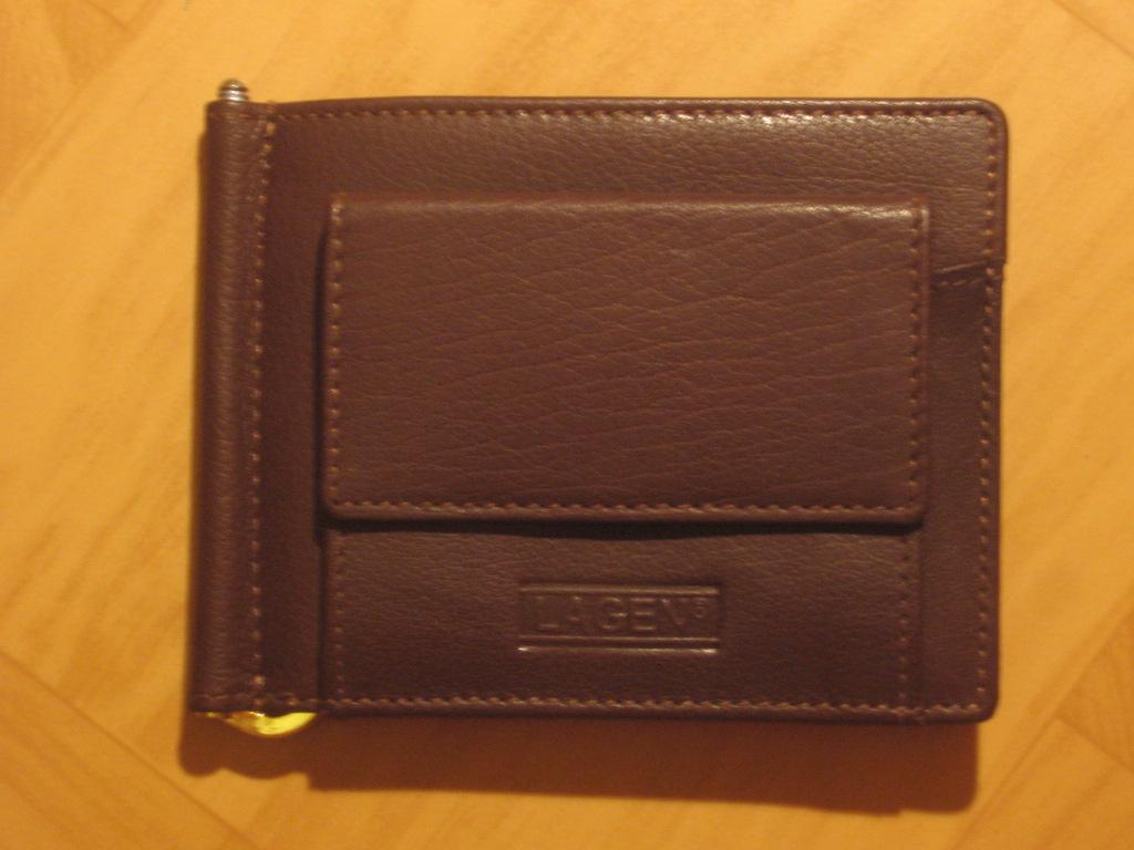 Pánská kožená peněženka, dolarovka, Lagen W 2010, hnědá