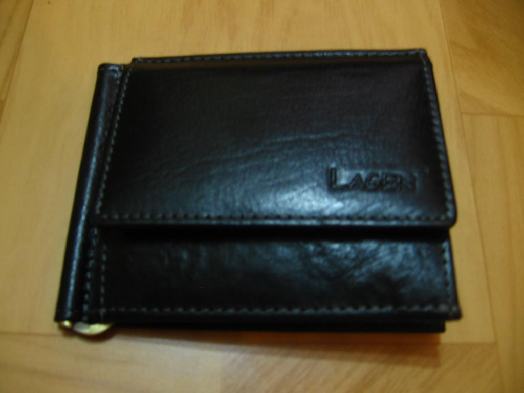 Lagen Pánská kožená peněženka dolarovka black 1999 T