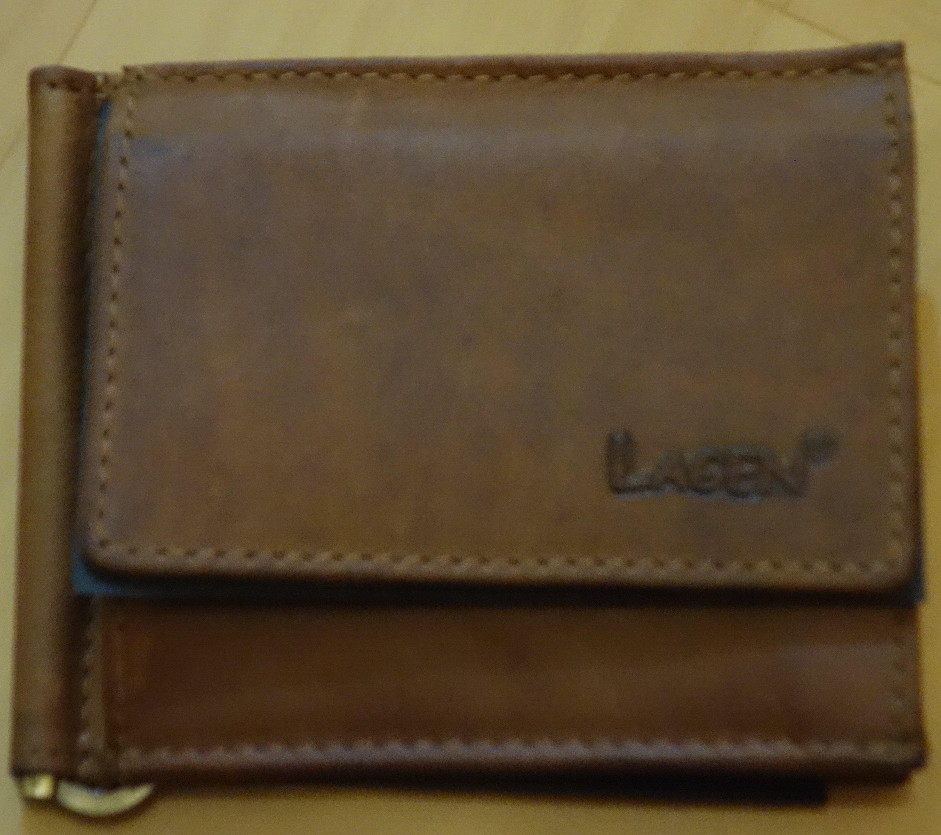 Lagen pánská kožená peněženka dolarovka Brown 1999/V