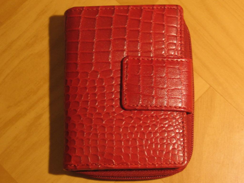 Luxusní dámská červená kožená peněženka Lagen 9501C