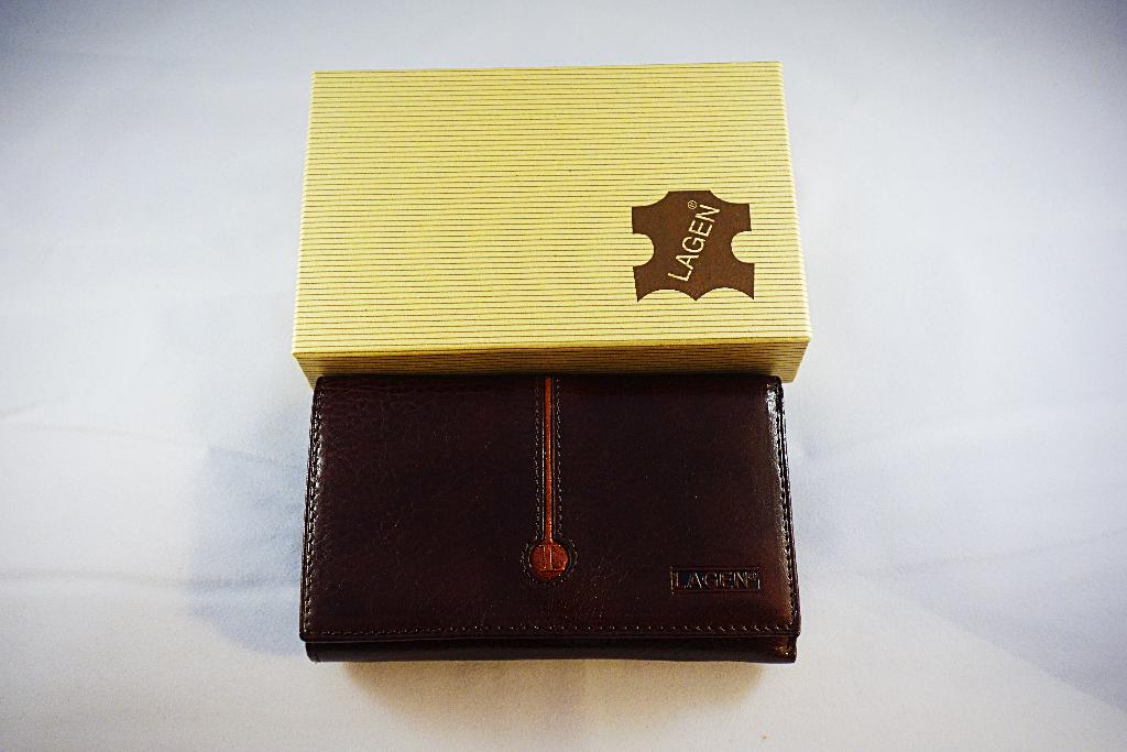 Lagen H31R peněženka dámská kožená tmavě hnědá
